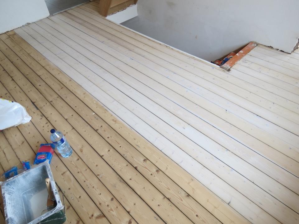 houten vloer grenen opschuren