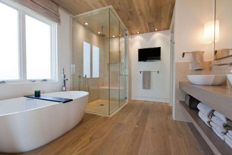 parket badkamer houten vloer